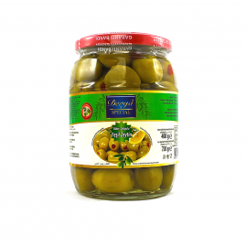 Derya Green Olives stuffed with Pepper in Glass 121-140 720cc