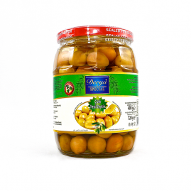 Derya Green Olives cracked in Glass 231-260 720cc